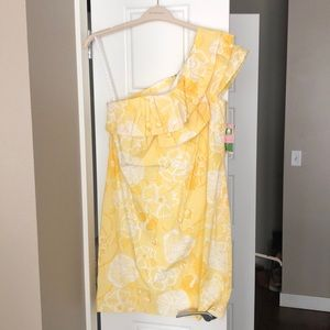 NWT Lilly Pulitzer one shoulder sun dress
